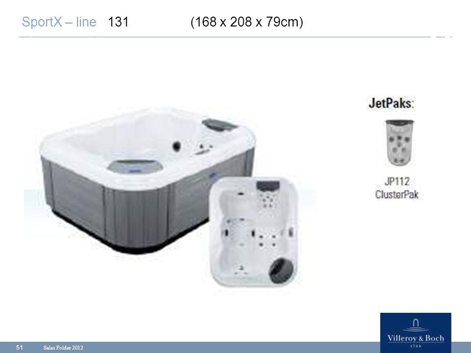 Sales Folder 2012 51 SportX – line 131 (168 x 208 x 79cm)
