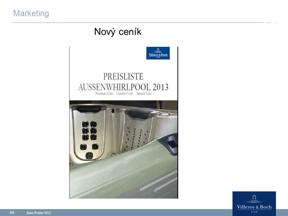 Sales Folder 2012 59 Marketing Nový ceník