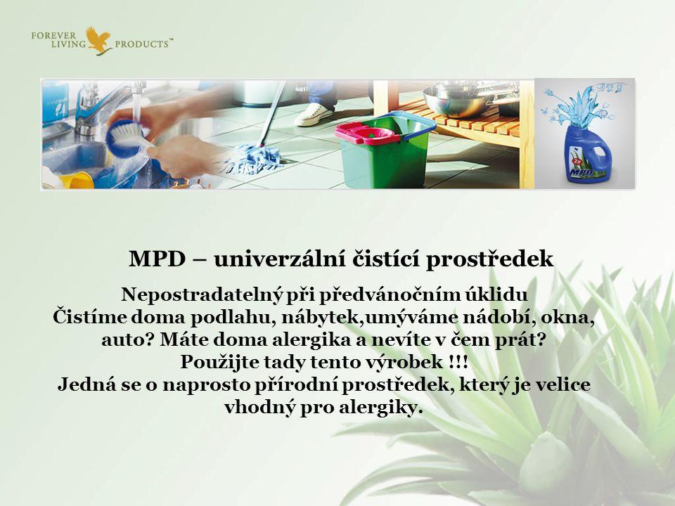 MPD – univerzální čistící prostředek Nepostradatelný při předvánočním úklidu Čistíme doma podlahu, nábytek,umýváme nádobí, okna, auto? Máte doma alerg