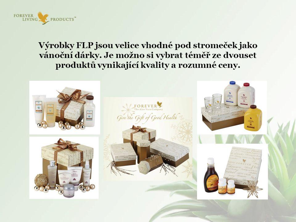 Výrobky FLP jsou velice vhodné pod stromeček jako vánoční dárky. Je možno si vybrat téměř ze dvouset produktů vynikající kvality a rozumné ceny.