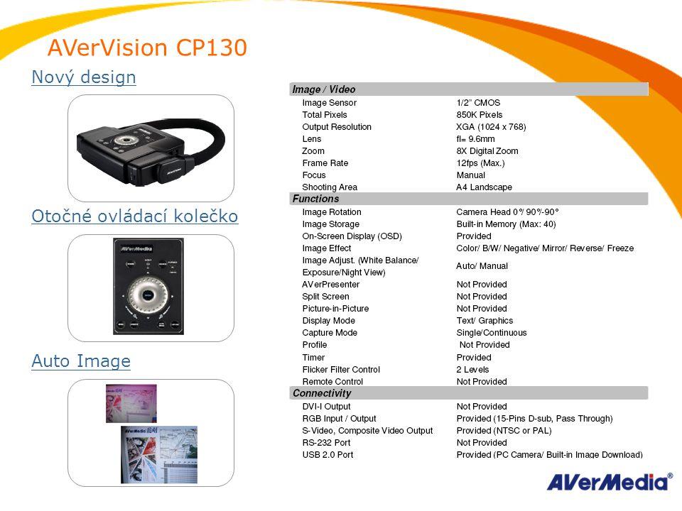 AVerVision CP130 Nový design Otočné ovládací kolečko Auto Image
