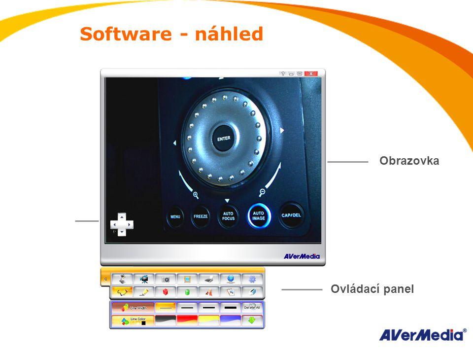 Software - náhled Ovládací panel Obrazovka