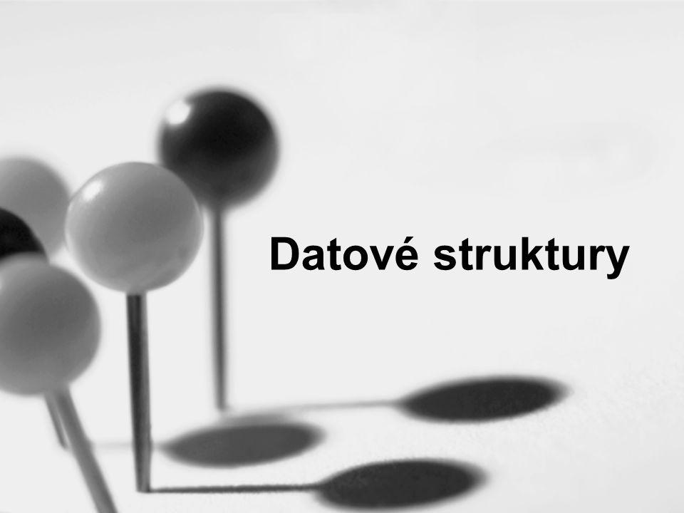 2 Co je datová struktura v C datový typ složený z jiných datových typů nejjednodušší datová struktura je pole.