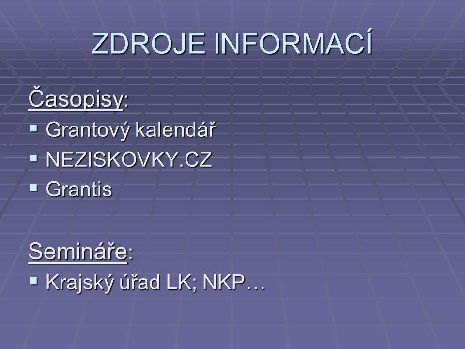 Příklad úspěšného projektu  Rekvalifikační kurz pro matky na/po mateřské, Krumlov http://knihovnam.nkp.cz/sekce.php3?page=07_Pro /SkoleniProjektMan.htm&PHPSESSID=4974c6d 113914e9712038c116cee49fe http://knihovnam.nkp.cz/sekce.php3?page=07_Pro /SkoleniProjektMan.htm&PHPSESSID=4974c6d 113914e9712038c116cee49fe