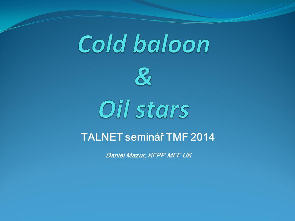 TALNET seminář TMF 2014 Daniel Mazur, KFPP MFF UK