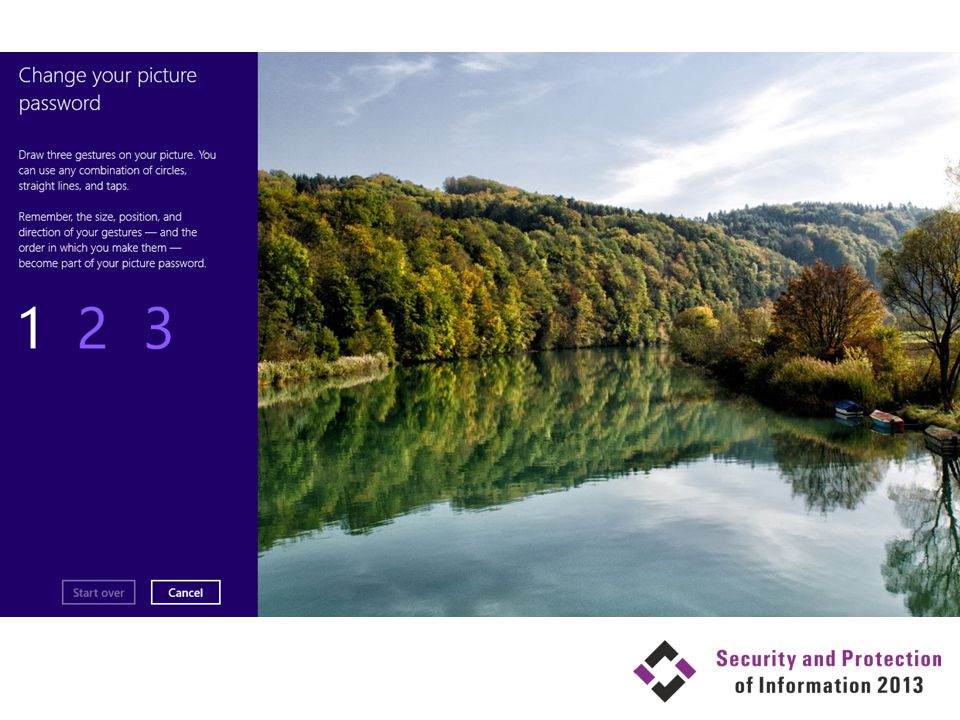 Použité zdroje Signing in with a picture password Securing the Windows 8 Boot Process Protect Portable Storage with BitLocker To Go Windows Security Survival Guide Security Compliance Manager