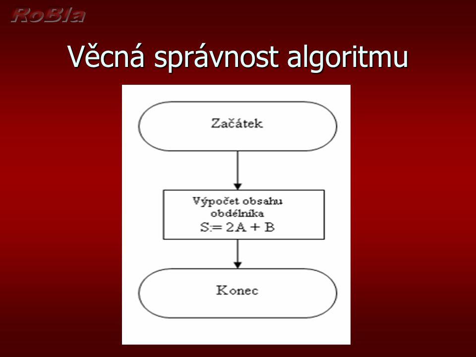 Věcná správnost algoritmu