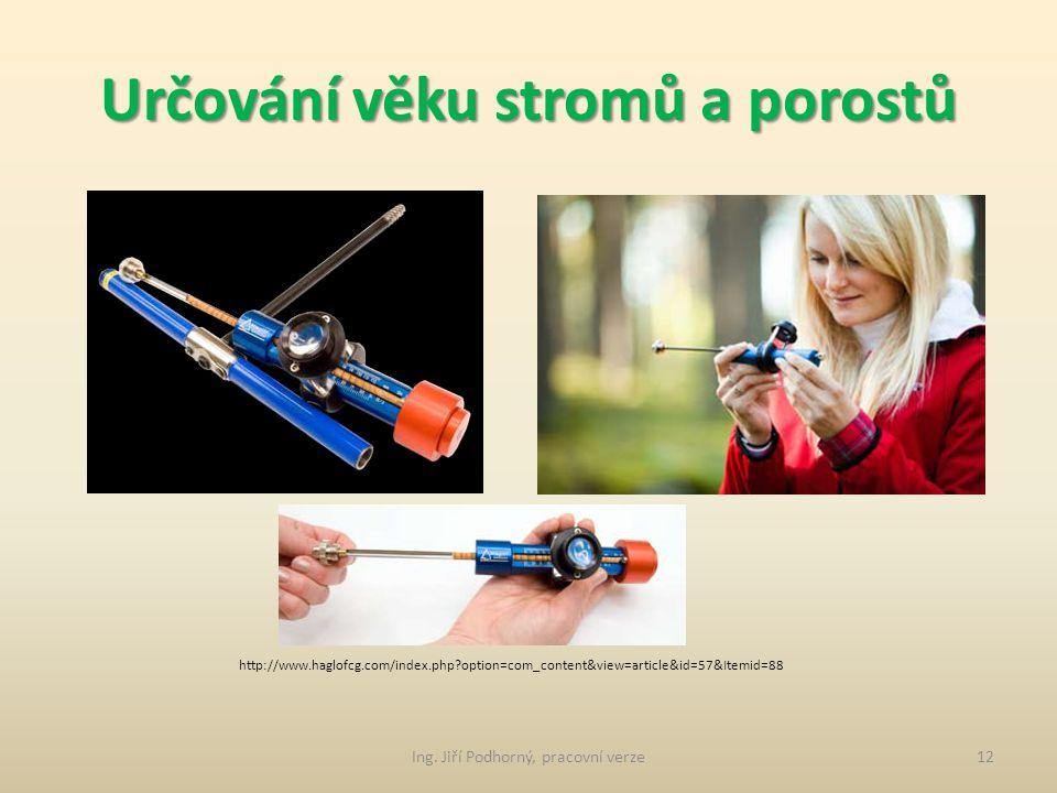 Určování věku stromů a porostů 5. Přírůstový nebozez Ing. Jiří Podhorný, pracovní verze11 http://www.haglofcg.com/index.php?option=com_content&view=ar