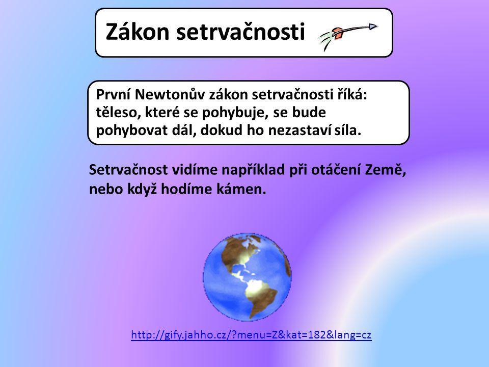 První Newtonův zákon setrvačnosti říká: těleso, které se pohybuje, se bude pohybovat dál, dokud ho nezastaví síla. Setrvačnost vidíme například při ot