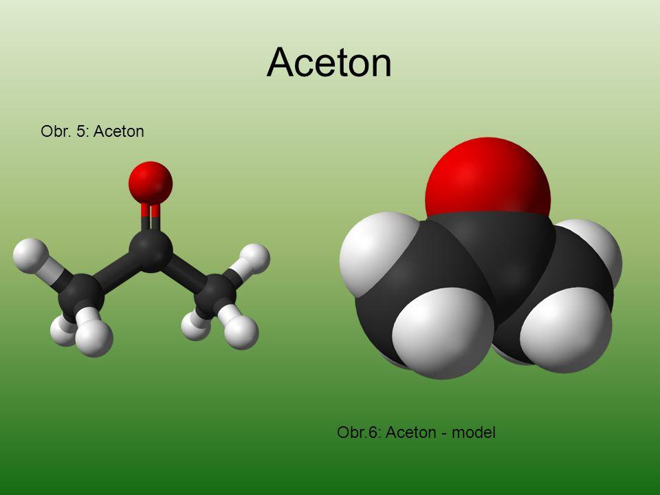 Aceton Obr. 5: Aceton Obr.6: Aceton - model