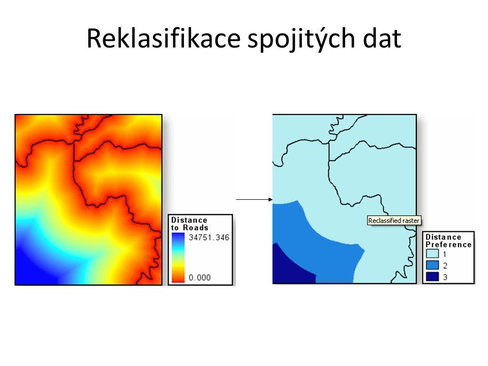 Reklasifikace spojitých dat