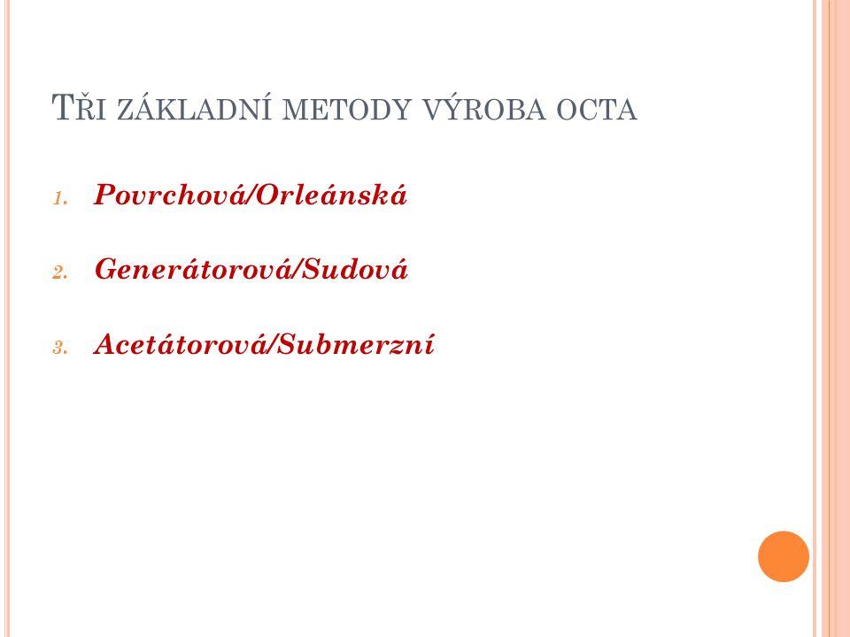 P OVRCHOVÁ / ORLEÁNSKÁ METODA Původní metoda, používána již od středověku.