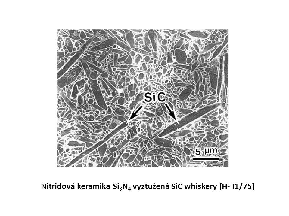 Nitridová keramika Si 3 N 4 vyztužená SiC whiskery [H- I1/75]