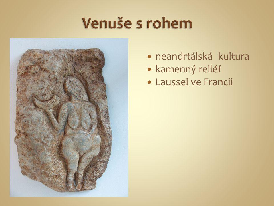 neandrtálská kultura kamenný reliéf Laussel ve Francii