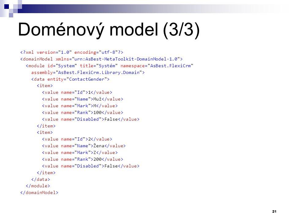 Doménový model (3/3) <module id=