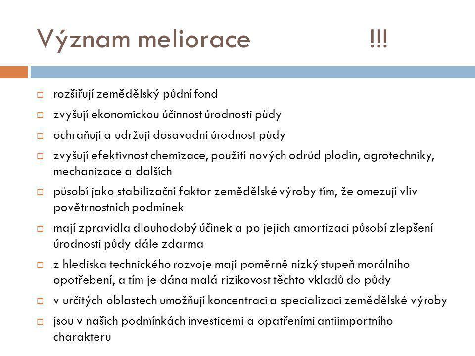 Význam meliorace!!.