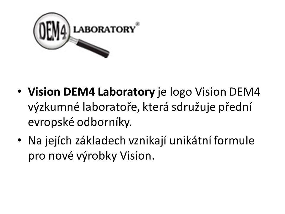 Vision DEM4 Laboratory je logo Vision DEM4 výzkumné laboratoře, která sdružuje přední evropské odborníky. Na jejích základech vznikají unikátní formul