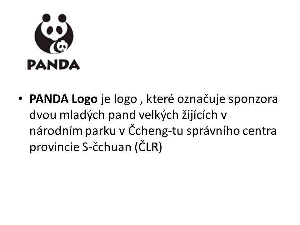 PANDA Logo je logo, které označuje sponzora dvou mladých pand velkých žijících v národním parku v Čcheng-tu správního centra provincie S-čchuan (ČLR)