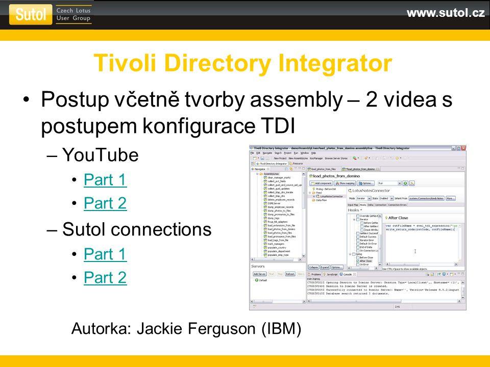 www.sutol.cz Postup včetně tvorby assembly – 2 videa s postupem konfigurace TDI –YouTube Part 1 Part 2 –Sutol connections Part 1 Part 2 Autorka: Jacki