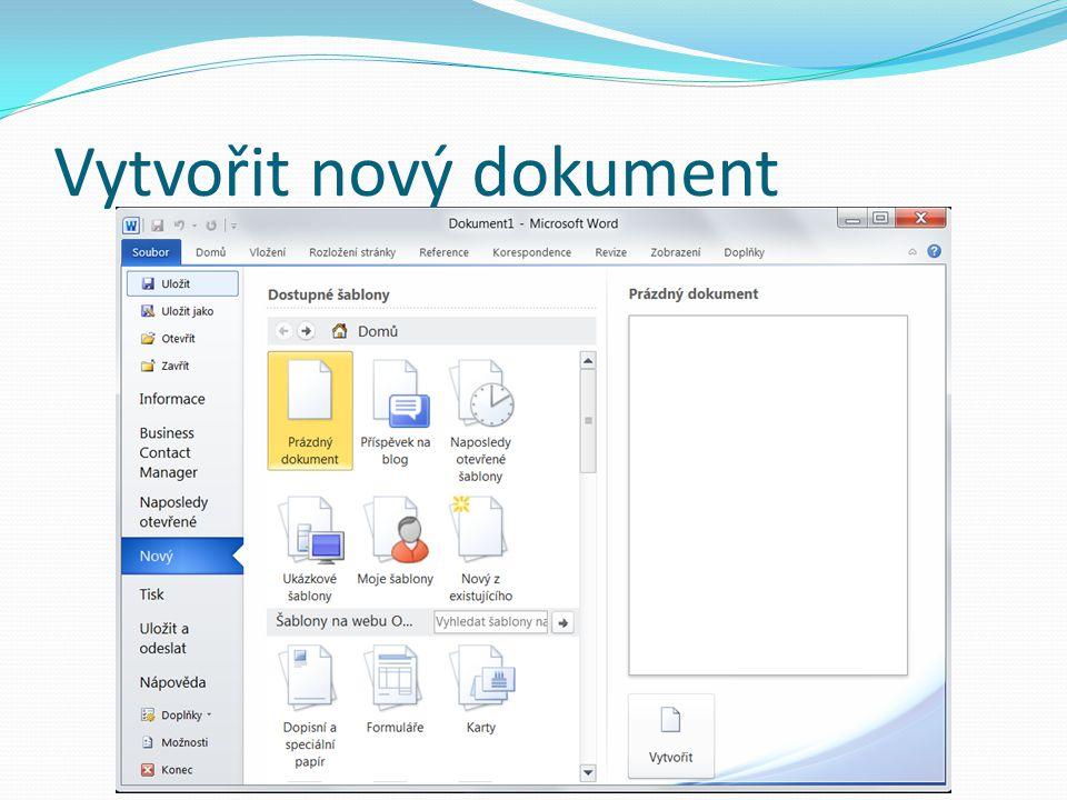 Hromadná korespondence Hromadnou korespondenci můžete použít v případě, že chcete vytvořit sadu dokumentů, například formulářový dopis posílaný mnoha zákazníkům Každý dopis obsahuje stejný druh informací, ale vlastní obsah je jedinečný Například v dopisech zákazníkům je v každém dopise zákazník osloven jménem Jedinečné informace v každém dopisu nebo štítku pocházejí z položek ve zdroji dat http://office.microsoft.com/cs-cz/word-help/pouziti-hromadne-korespondence-k-vytvareni-a-tisku-dopisu-a-dalsich-dokumentu- HA010081976.aspx