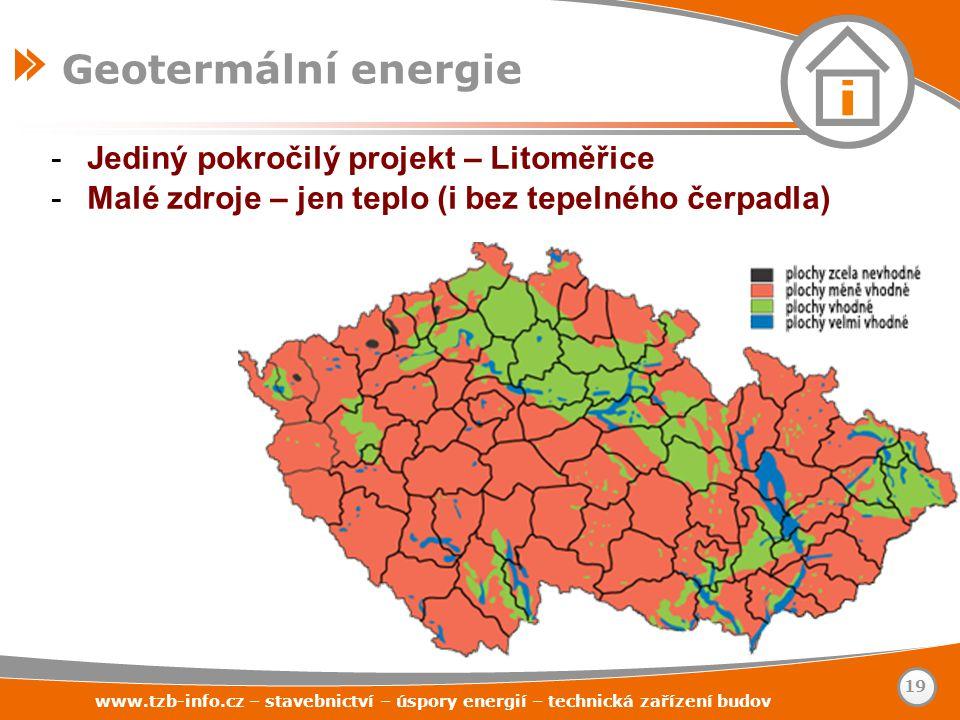 -Jediný pokročilý projekt – Litoměřice -Malé zdroje – jen teplo (i bez tepelného čerpadla) www.tzb-info.cz – stavebnictví – úspory energií – technická