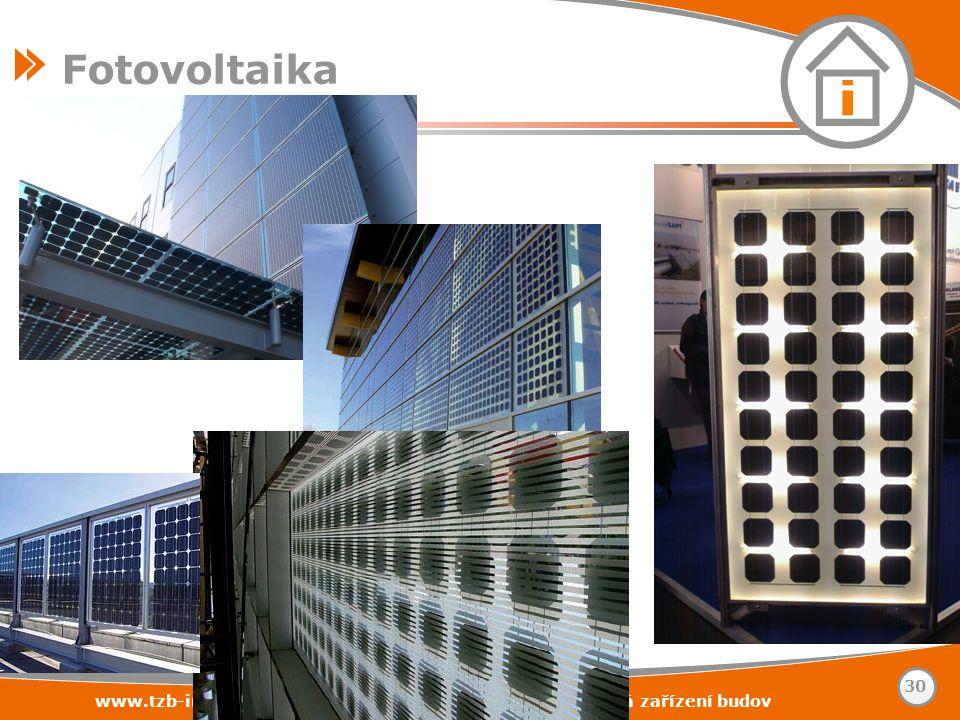 www.tzb-info.cz – stavebnictví – úspory energií – technická zařízení budov 30 Fotovoltaika