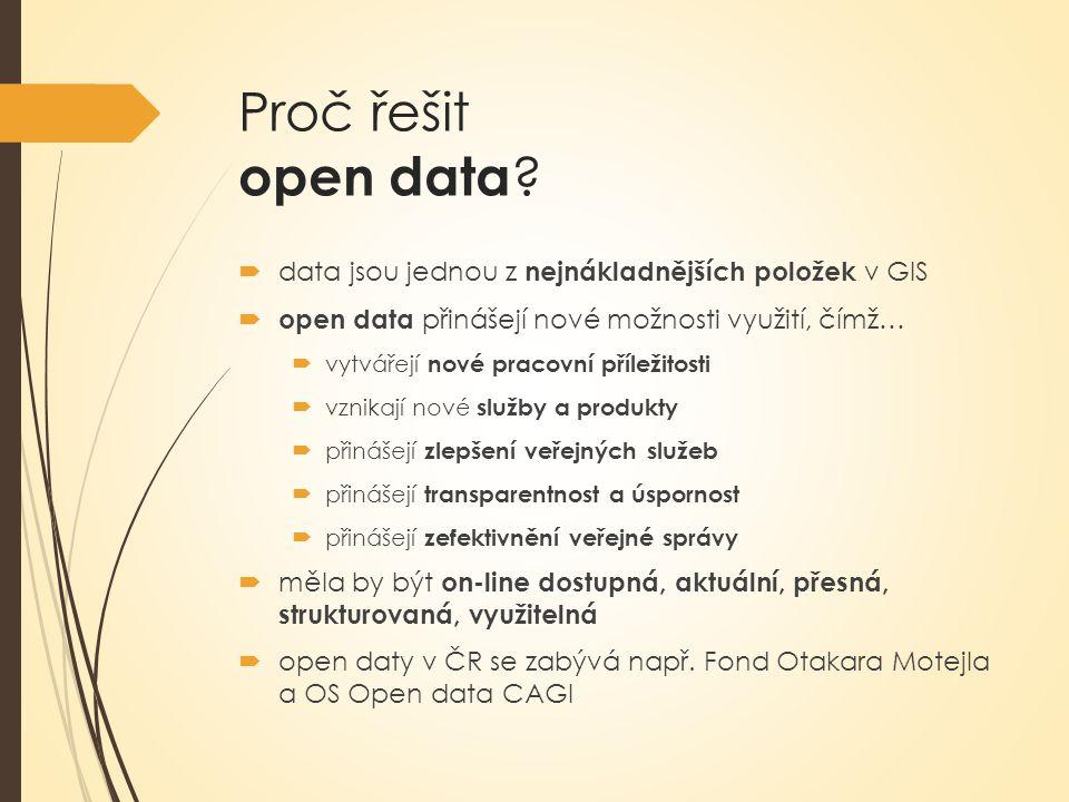 Proč řešit open data .