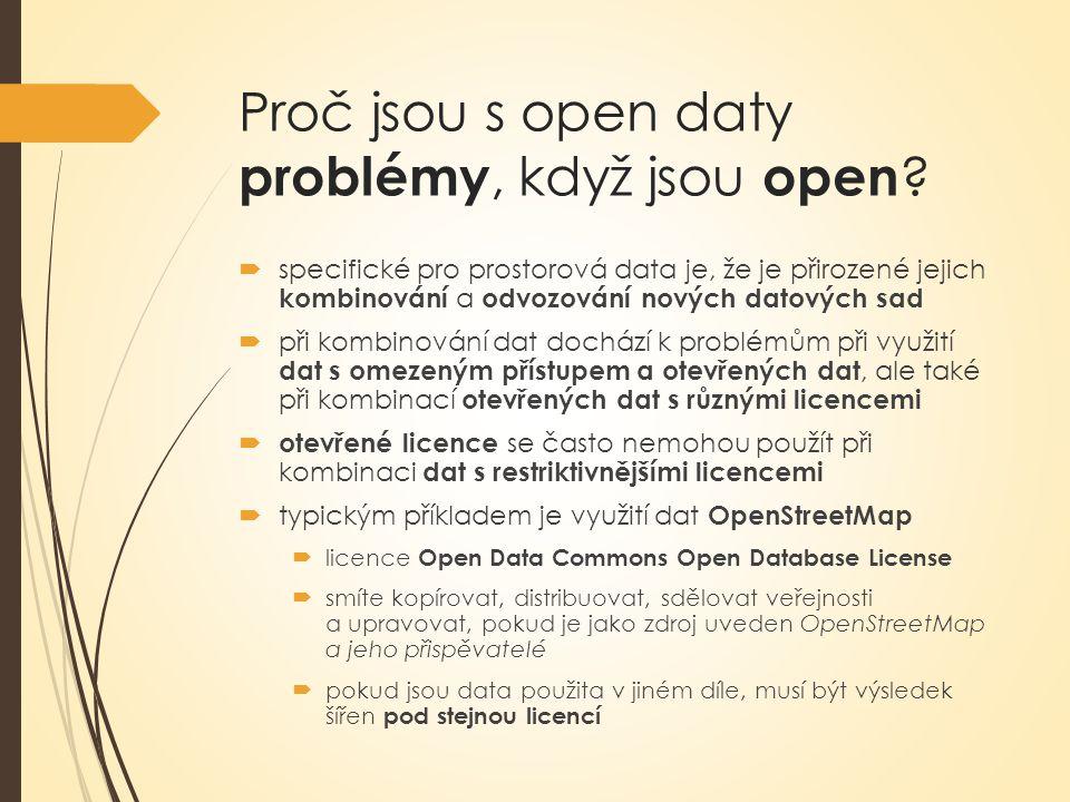 Jak poznám, jestli jsou data otevřená .