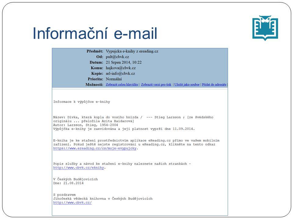 Informační e-mail