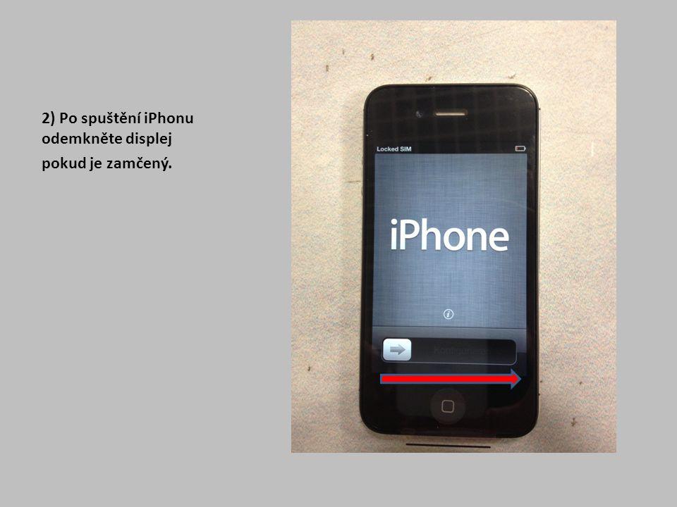 """13) Pokud si u Vás zákazník objednal nebo zakoupil službu SmartPhone start, s největší pravděpodobností využijete pouze možnost """"Nastavit jako nový iPhone Zvolte dle požadavku a pokračujte možností """"Dále"""