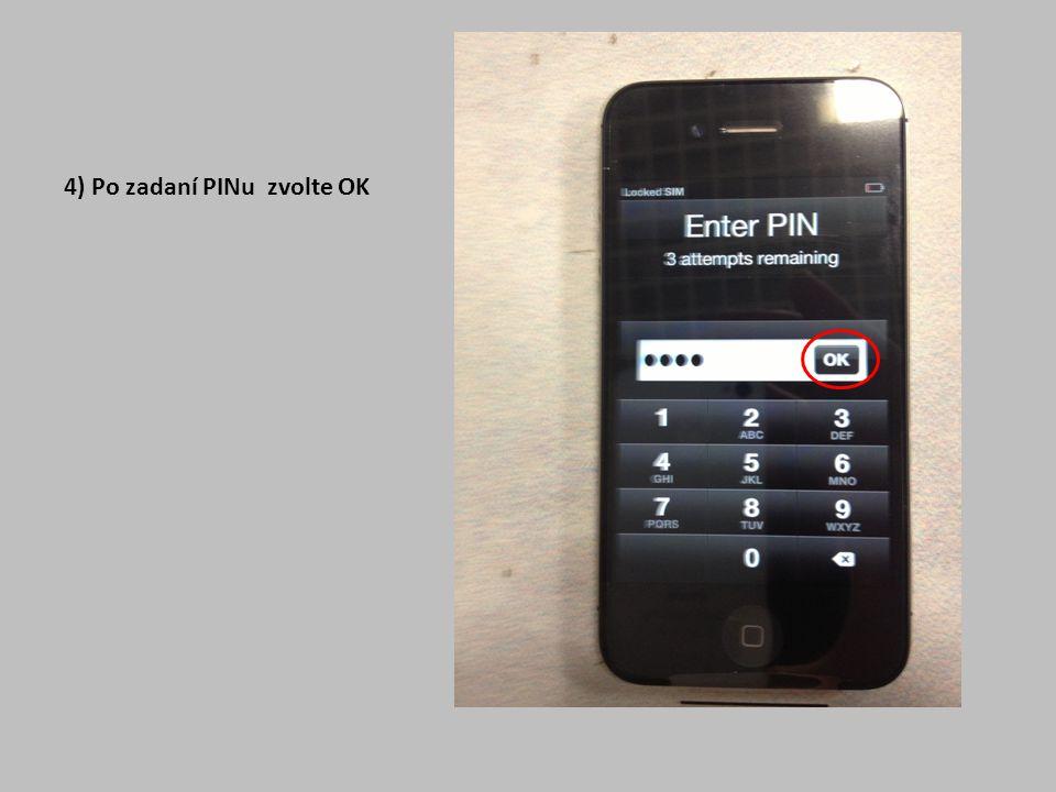 5 ) Nyní zvolte jazyk prostředí telefonu a přejděte dále modře označenou šipkou