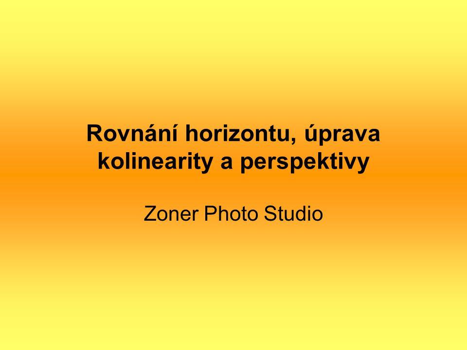 Rovnání horizontu, úprava kolinearity a perspektivy Zoner Photo Studio