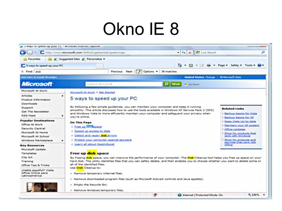 Okno IE 8