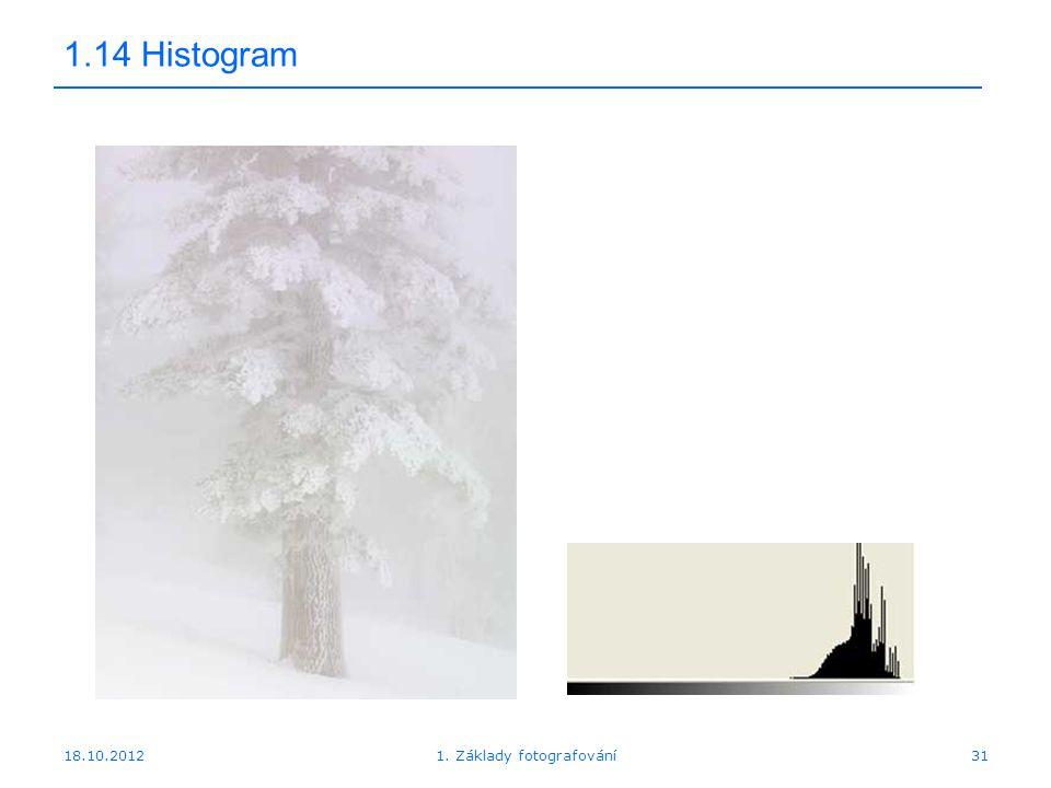 18.10.201231 1.14 Histogram 1. Základy fotografování