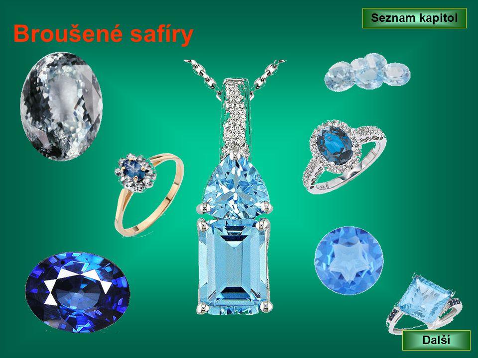 Seznam kapitol Další Šperkařský korund - rubín Přírodní rubíny jsou ceněné více než safíry.