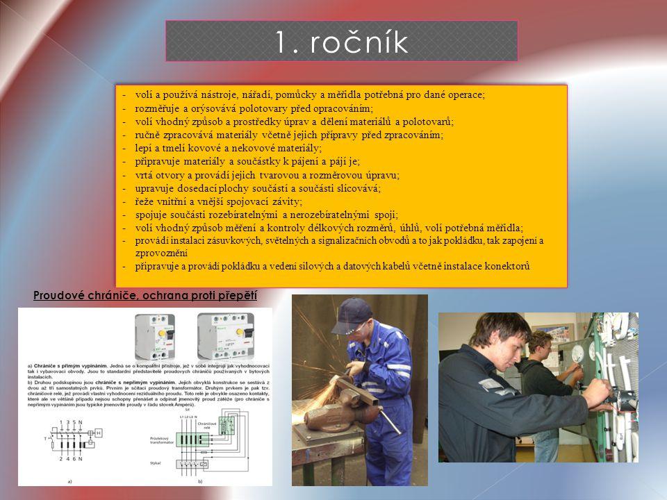 1. ročník - volí a používá nástroje, nářadí, pomůcky a měřidla potřebná pro dané operace; - rozměřuje a orýsovává polotovary před opracováním; - volí
