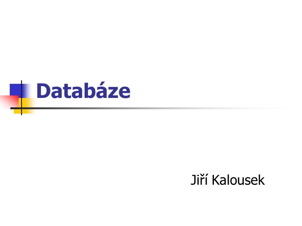 Databáze Co je databáze SŘBD Relační model dat Typy relací Relační algebra SQL