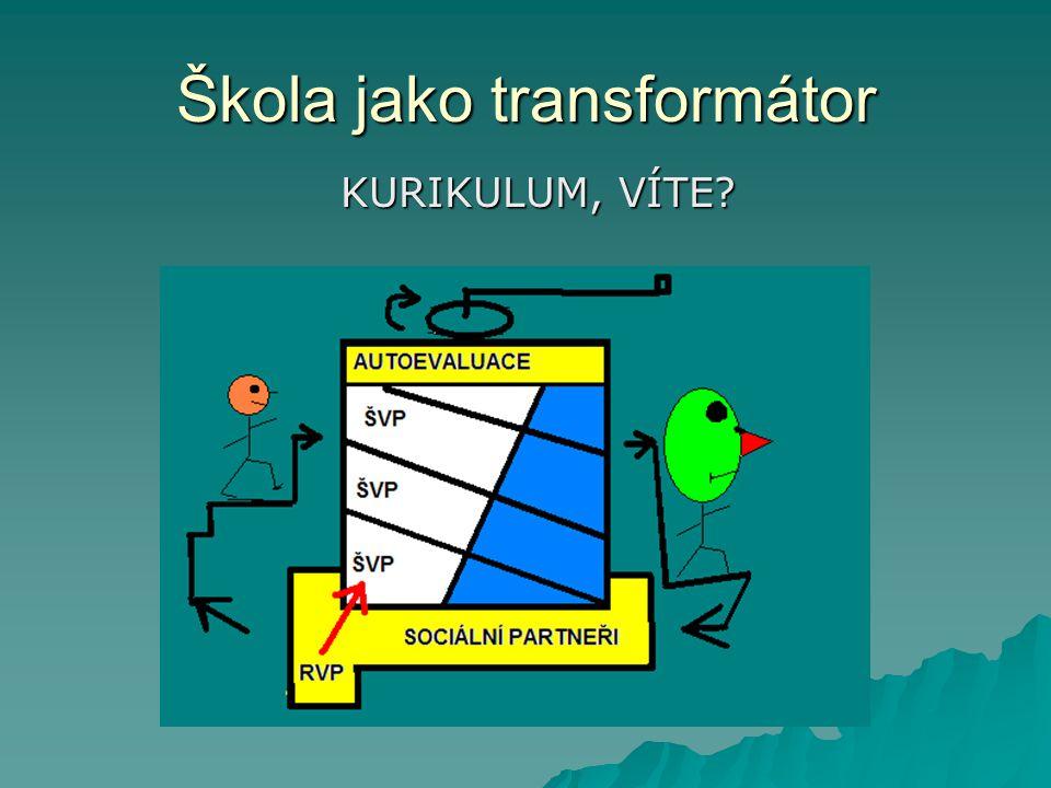 Škola jako transformátor KURIKULUM, VÍTE?