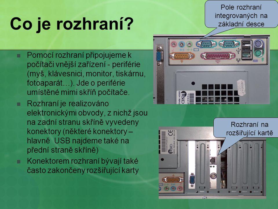 Základní typy používají se normovaná rozhraní.