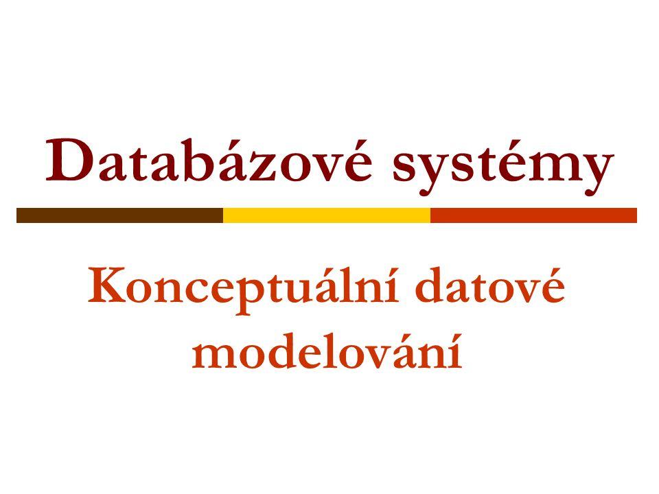 Databázové systémy Konceptuální datové modelování