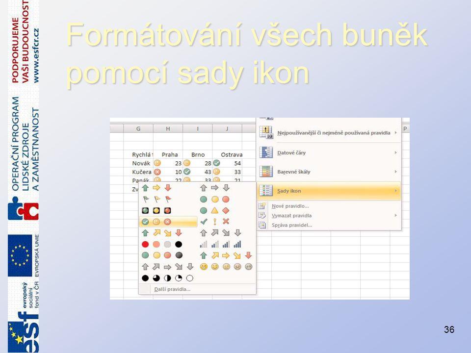 Formátování všech buněk pomocí sady ikon 36