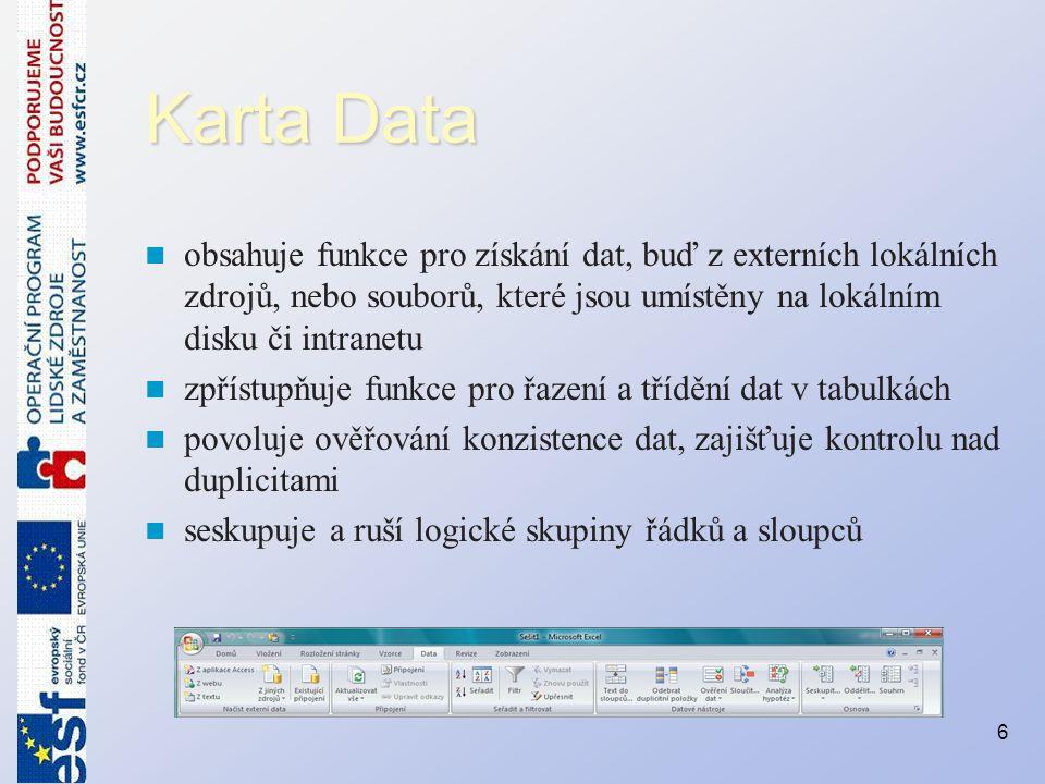 Formátování buněk obsahujících text, číslo, datum nebo čas Aby bylo možné snadněji najít určité buňky v oblasti buněk, lze formátovat tyto určité buňky za pomocí operátoru porovnání Postup je následující: –Vyberte oblast buněk –Na kartě Domů ve skupině Styly klepněte na šipku vedle položky Podmíněné formátování a poté klepněte na příkaz Zvýraznit pravidla buněk.