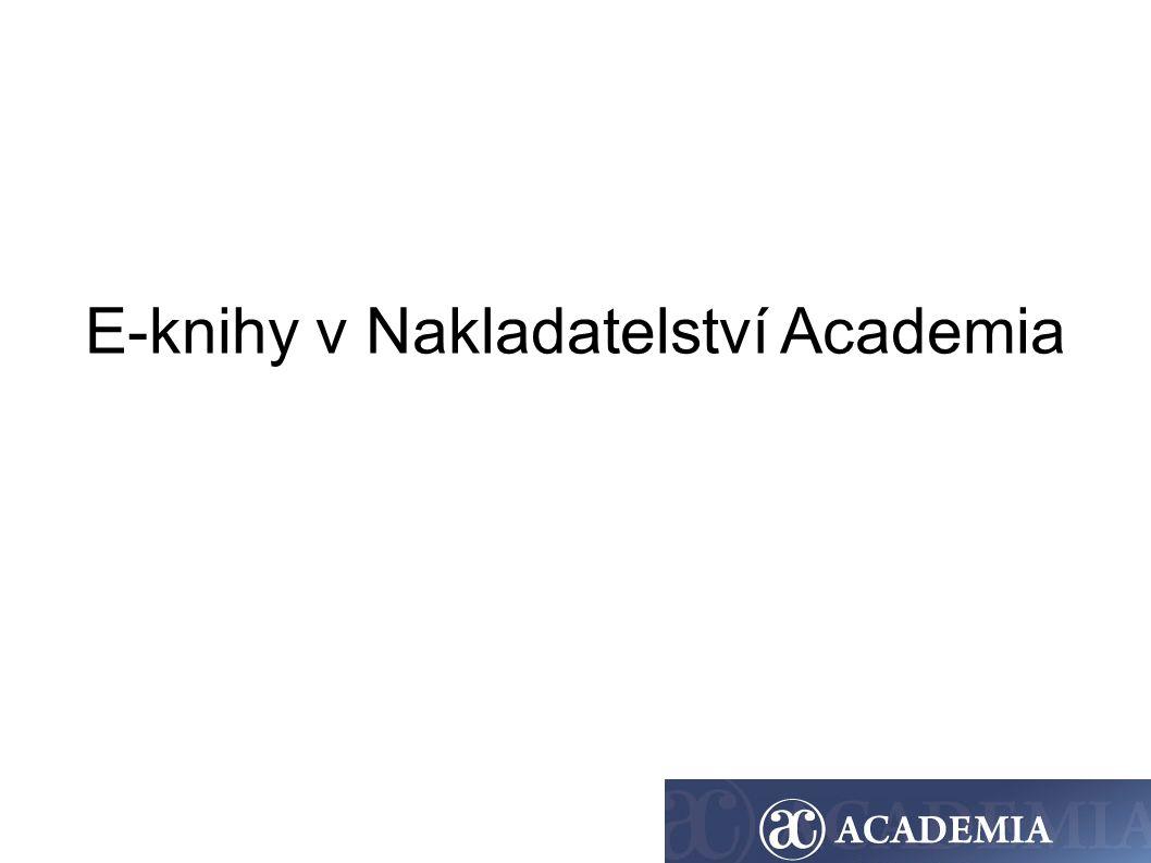 E-knihy v Nakladatelství Academia