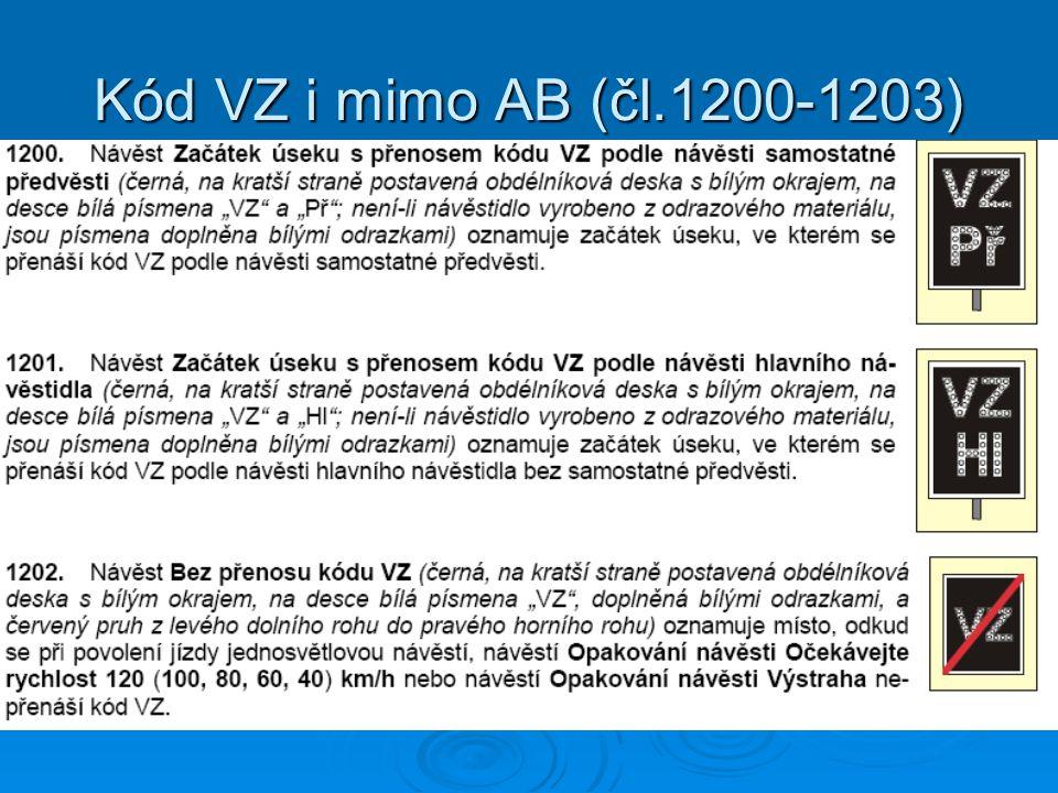 Kód VZ i mimo AB (čl.1200-1203)