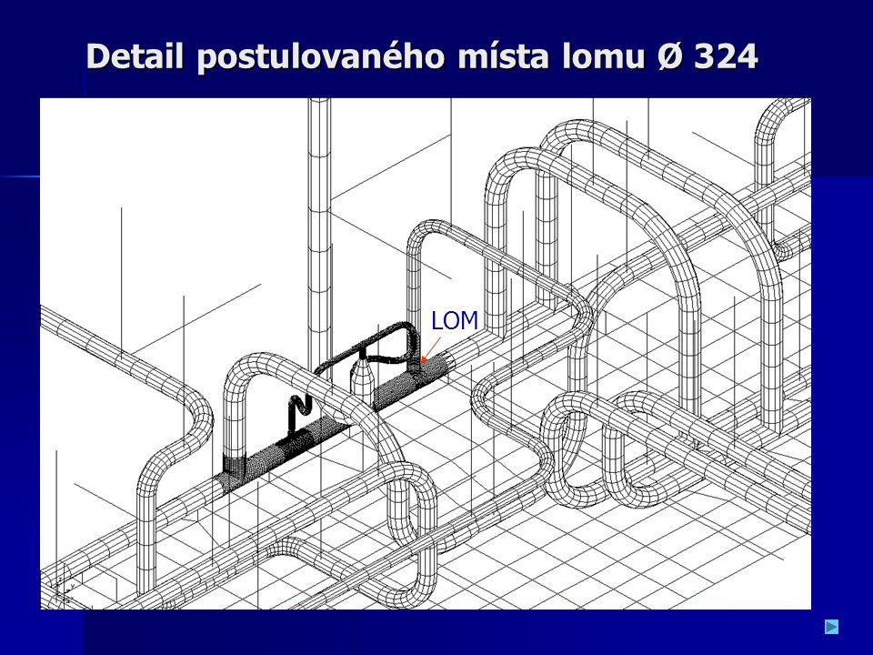 Detail postulovaného místa lomu Ø 324 LOM