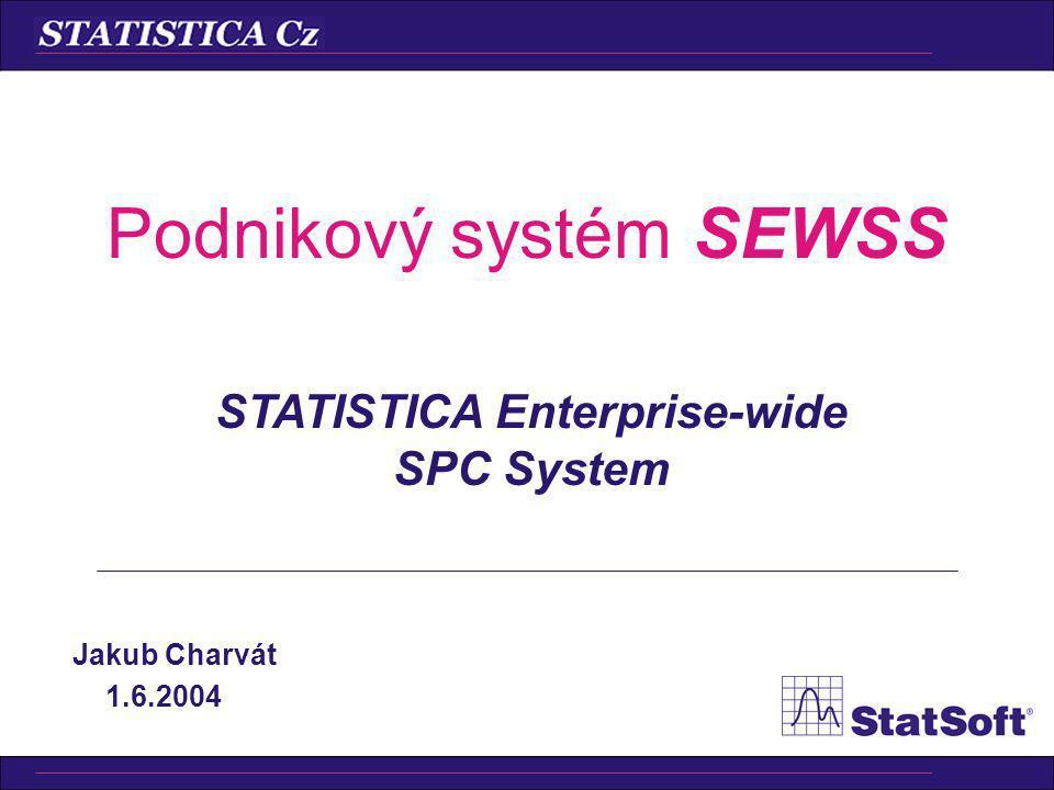 Podnikový systém SEWSS Jakub Charvát 1.6.2004 STATISTICA Enterprise-wide SPC System
