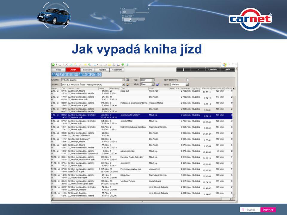 Terminál pro řidiče Vkládání dat o jízdě Komunikace s dispečerem Navigace GARMIN Vkládání tankování Komunikace s dispečerem Vkládání POI, nastavení cíle cesty Technické novinky CarNetu