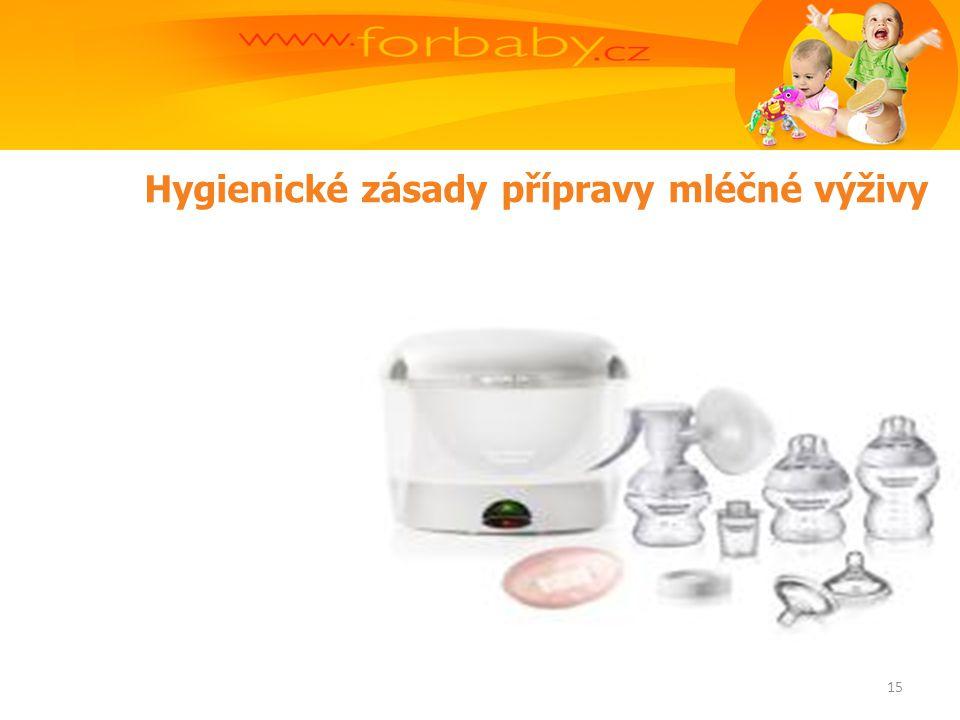 Hygienické zásady přípravy mléčné výživy 15