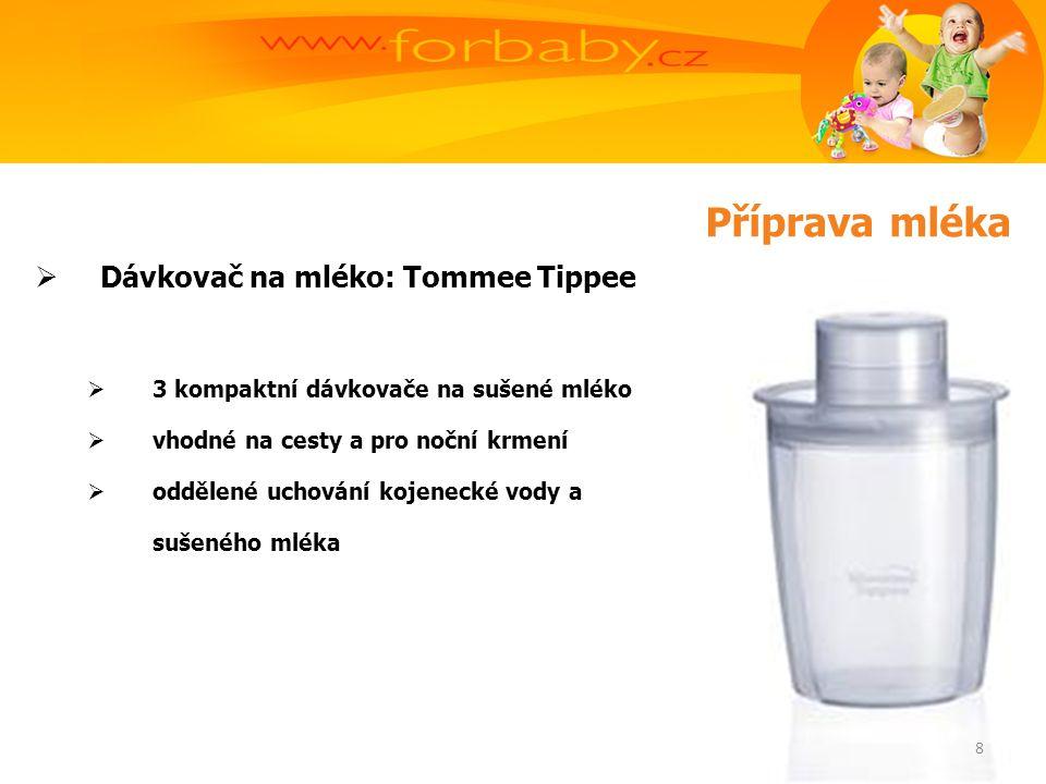  Dávkovač na mléko: Tommee Tippee  3 kompaktní dávkovače na sušené mléko  vhodné na cesty a pro noční krmení  oddělené uchování kojenecké vody a sušeného mléka 8