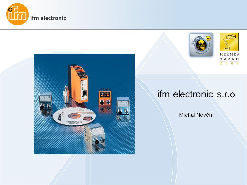 ifm electronic s.r.o Michal Nevěřil